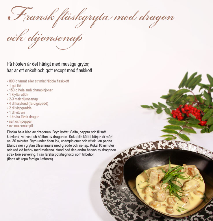 Recept Fransk fläskgryta Nibble