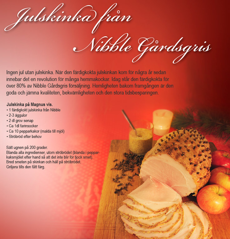 Recept Julskinka 1 Nibble