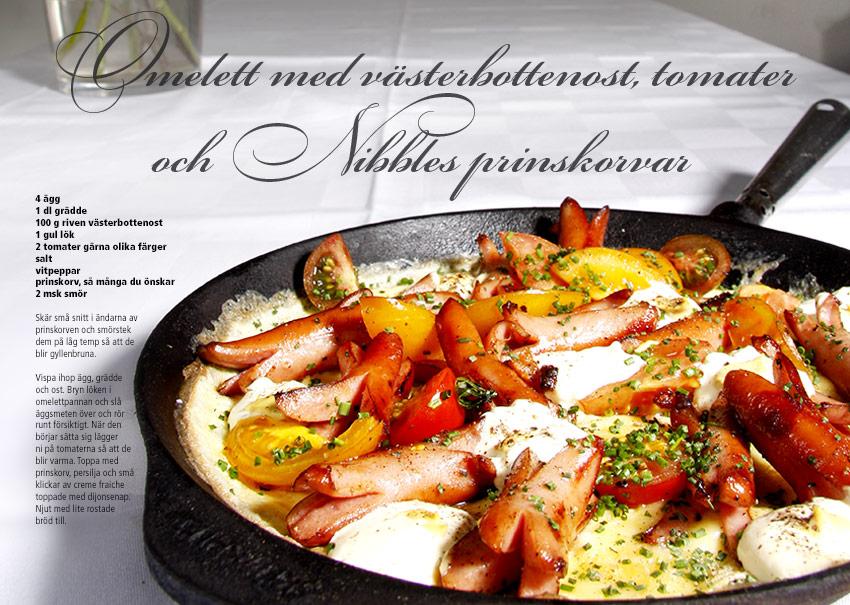 Recept Omelett med västerbottenost Nibble