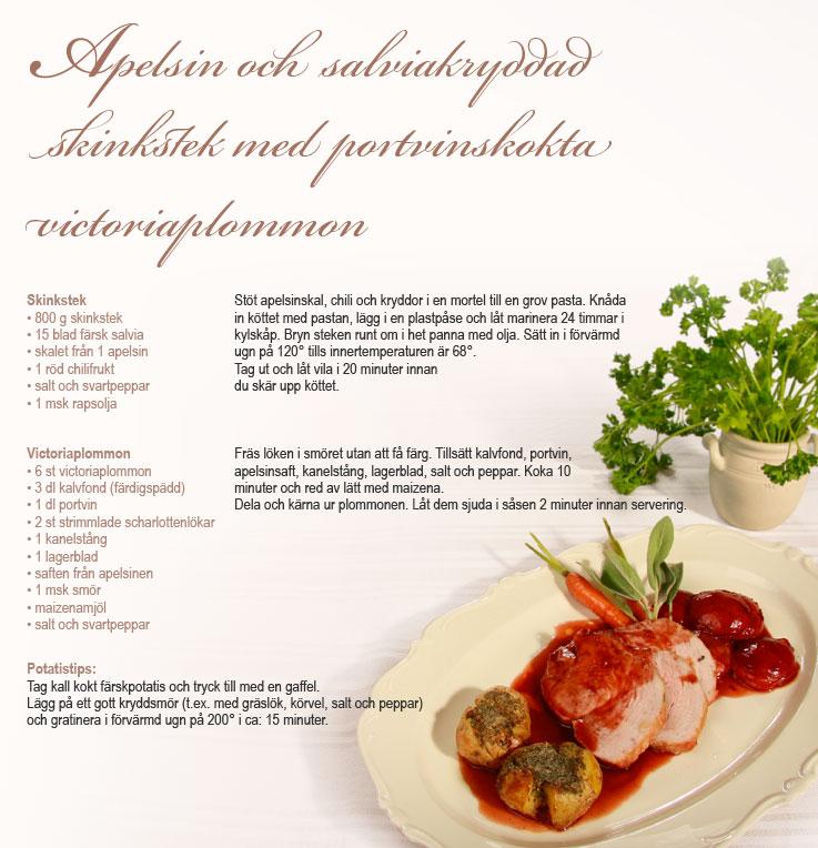 Recept Salviakryddad skinkstek Nibble