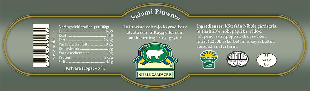 Salami Pimento etikett nibble
